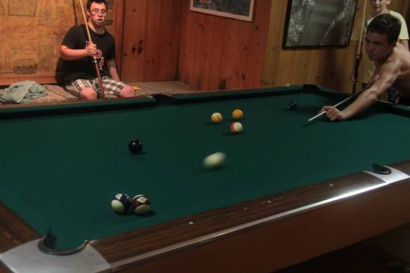 Luke - playing pool
